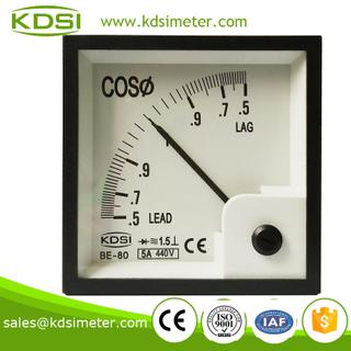 指針式功率因數表 BE-80 COS