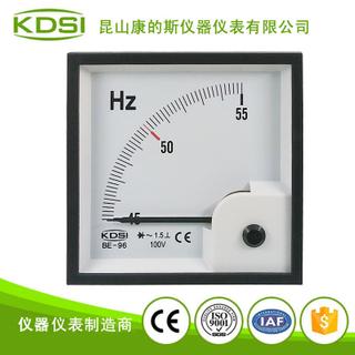 方形電壓頻率表頭 指針式頻率表BE-96 45-55HZ 100V