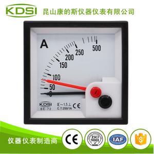 出口型電流測量表頭BE-72 AC250/1A雙針