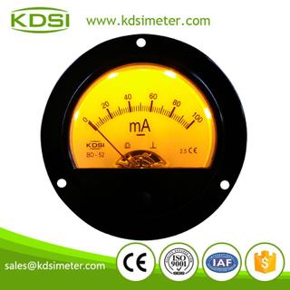 指針式直流毫安電流表 BO-52 DC100mA 背光表