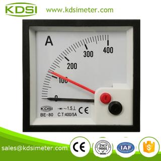 雙指針 指針式交流電流表 BE-80 AC400/5A 整流型